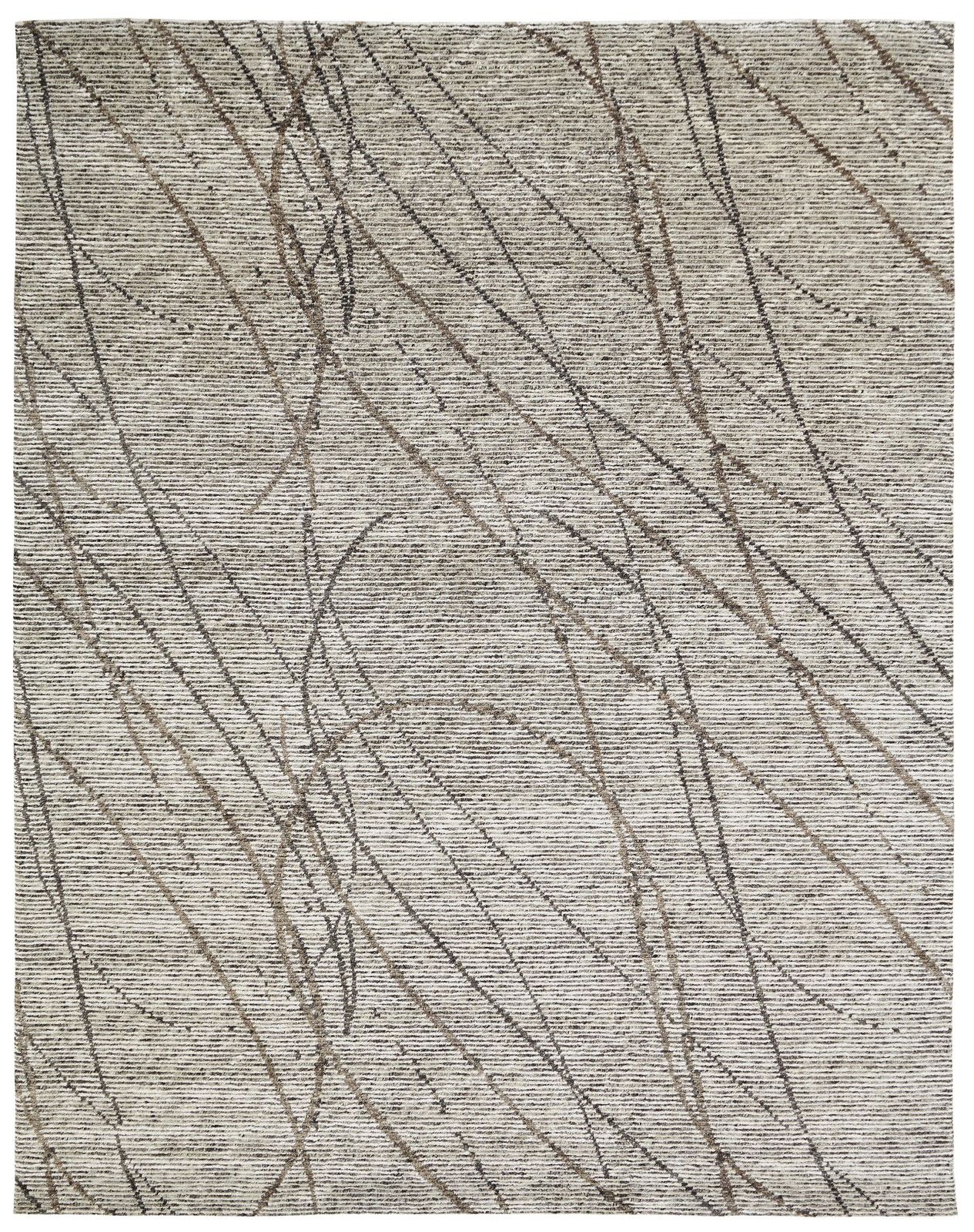 Visions Collection Grey Brown Swirl Kirishian Rugs